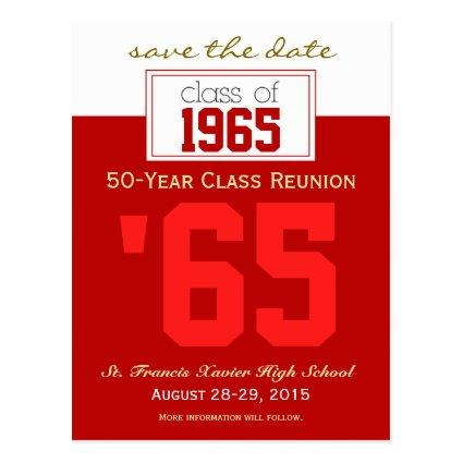 Custom Class Reunion Save-the-Date Announcements Cards