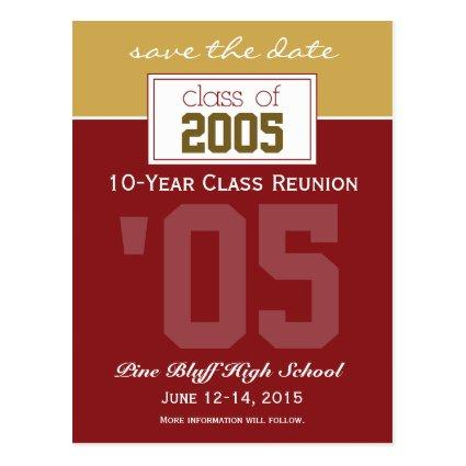 Custom Class Reunion Save-the-Date Announcement