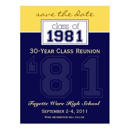 :custom: Class Reunion Save-the-Date Announcement