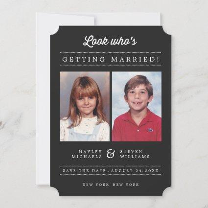 Custom Color Kid Photo Save the Date Announcement