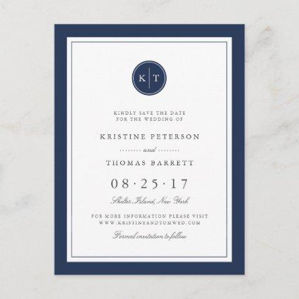 Custom Color Monogram Wedding  Announcements Cards