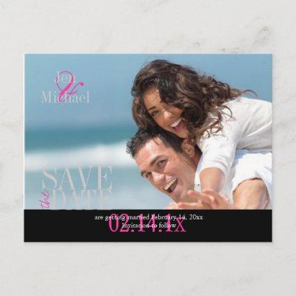Custom Color, Photo Save the Date Cards