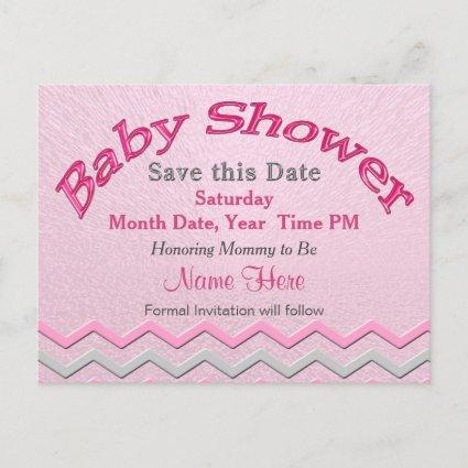 Custom Cute Save the Date for Baby Shower