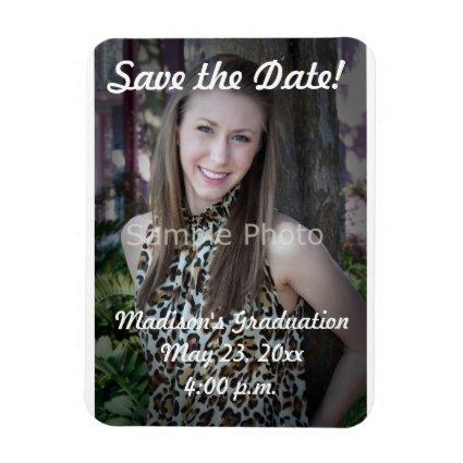Custom Graduation Save the Date Magnets