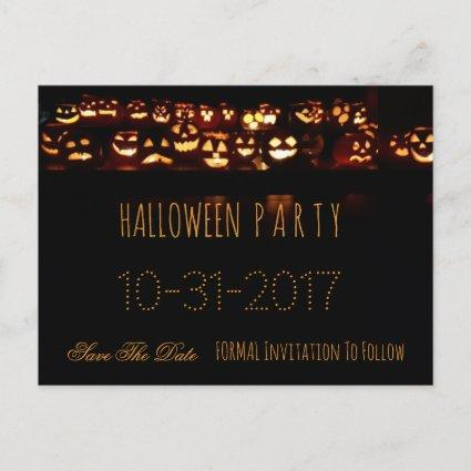 Custom Halloween Party Save The Date Pumpkin Announcements
