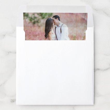 Custom Photo Wedding Engagement Modern One Picture Envelope Liner