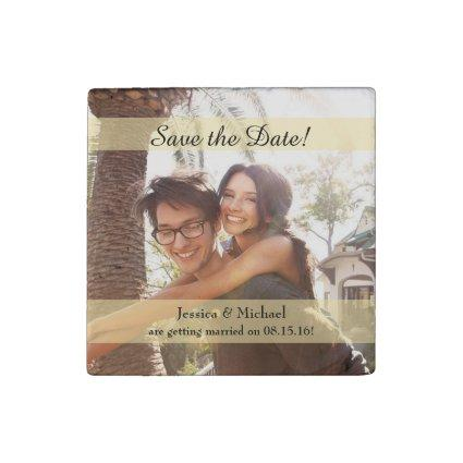 Custom Photo Wedding Save the Date Magnets