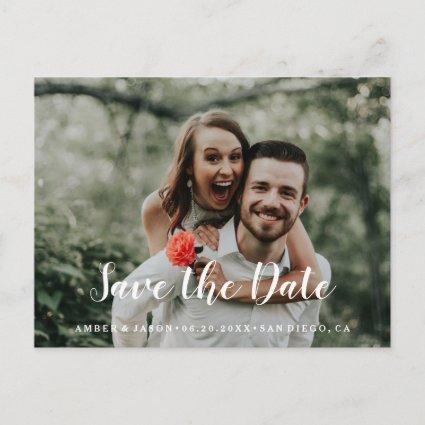 Custom Photograph romantic modern Save the Date Announcement