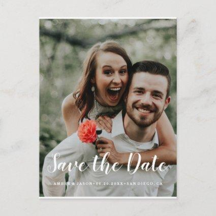 Custom Photograph romantic modern Save the Date Announcements Cards