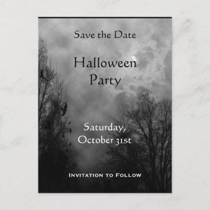 Custom Save the Date Haunted Sky