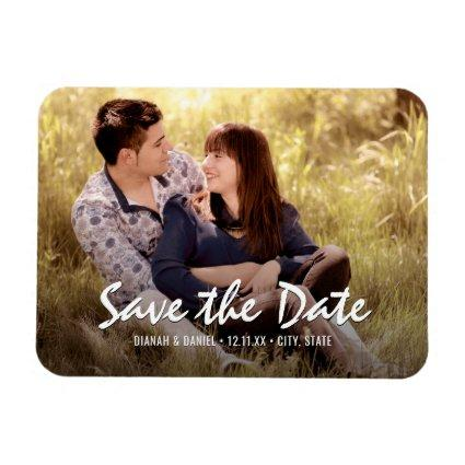 Custom Wedding Save The Date Photo Fridge Magnet