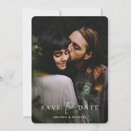 Custom Wedding Save the Date Template with Photo