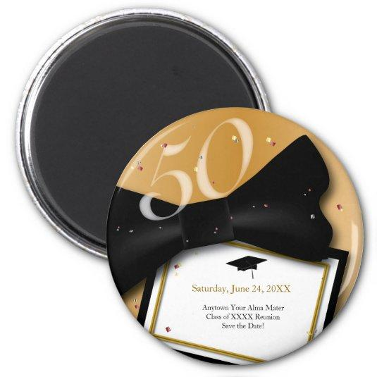 Customizable 50 Year Class Reunion Save the Date Magnets