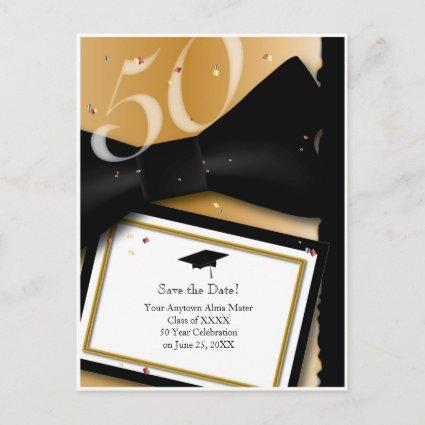 Customizable 50 Year Class Reunion Save the Date Announcement