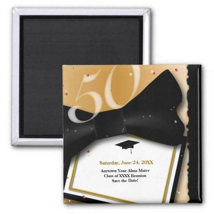 Customizable 50 Year Class Reunion Save the Date Magnet
