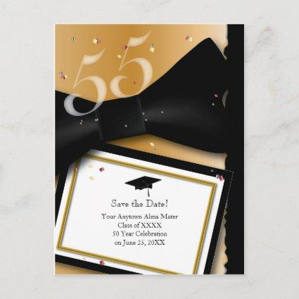 Customizable 55 Year Class Reunion Save the Date Announcements Cards