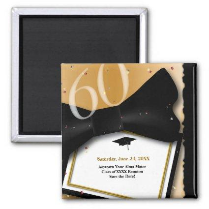 Customizable 60 Year Class Reunion Save the Date Magnet