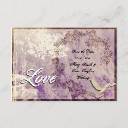Customizable 'Love Dove'  - Save the Date Cards