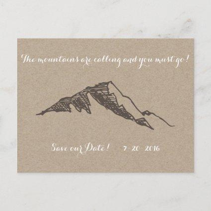 Customizable Mountain Save the Date Announcement