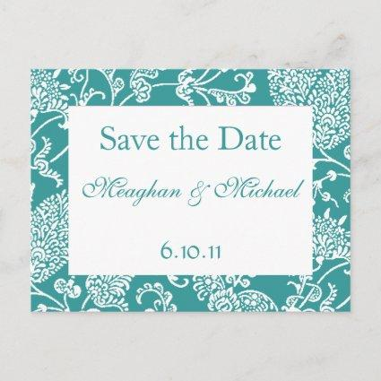 Customizable Paisley Save the Date Announcements Cards