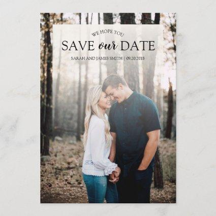 Customizable Photo Save The Date