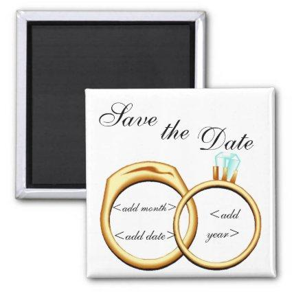 Customizable Save The Date Rings Magnets