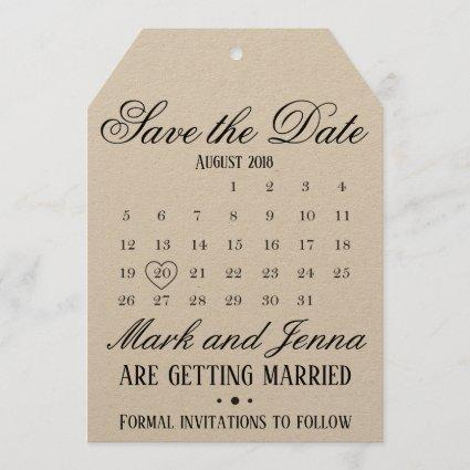 Customizable Save the Date Tag