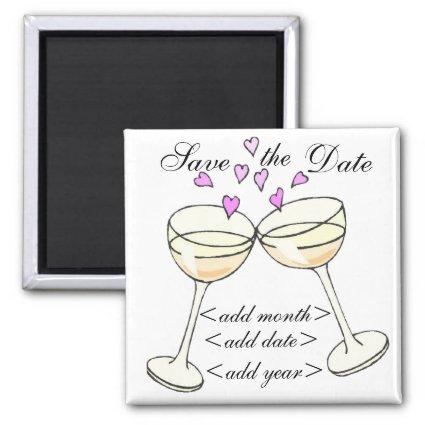 Customizable Save The Date Toast Magnets