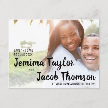 Customizable Simple Classy Photo Save the Date Announcement