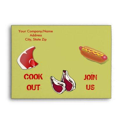 Customized Barbecue Save the Date Envelope