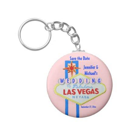 Customized Las Vegas Wedding Sign Keychain