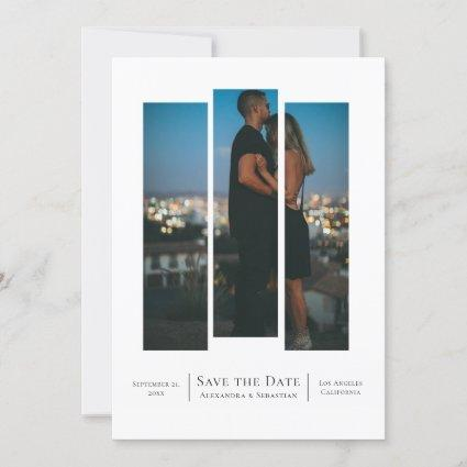 Cut Out Save The Date Wedding Photo Personalized Announcement
