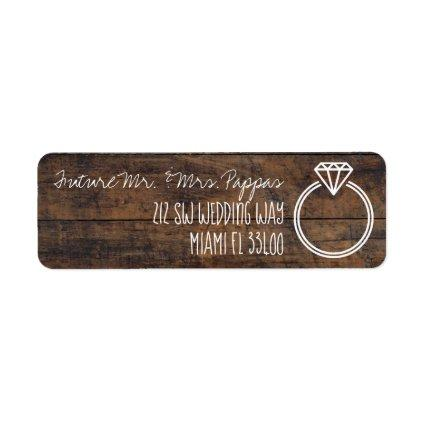 Cute Engagement / Save the Date Chalk Styled Text Label