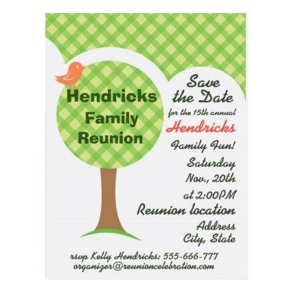 Cute family reunion invitation.