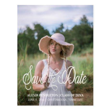 Cute Graduation Save the Date Girl Photo