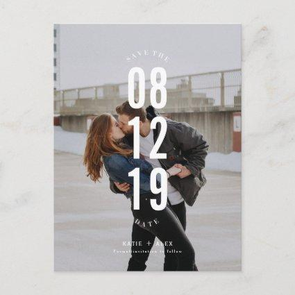 Cute Modern Couple Photo Save the Dates Announcement