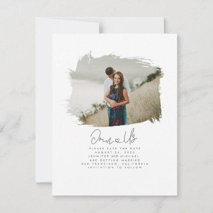 Cute Modern Minimalist Join Us Save the Date Photo