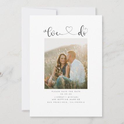 Cute Modern Minimalist We Do Save the Date Photo