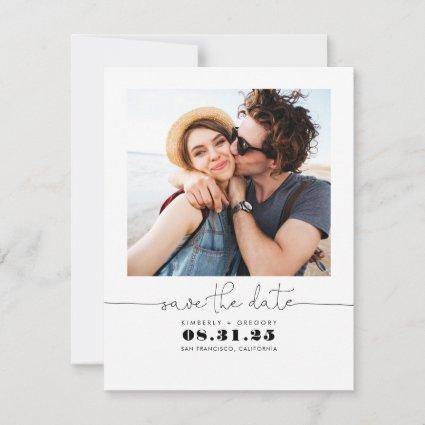 Cute Simple and Elegant Save the Date Photo