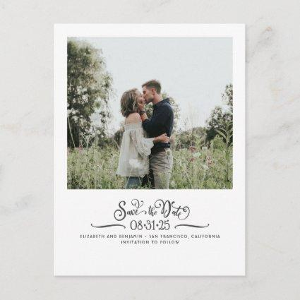 Cute Simple and Elegant Save the Date Photo Announcement