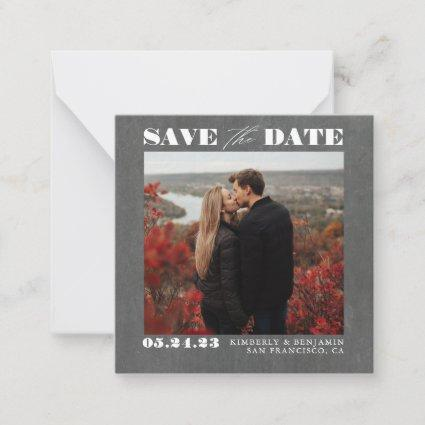 Cute Simple and Elegant Save the Date Photo Note Card