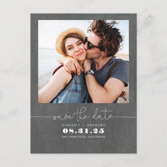 Cute Simple and Minimal Save the Date Photo Announcement