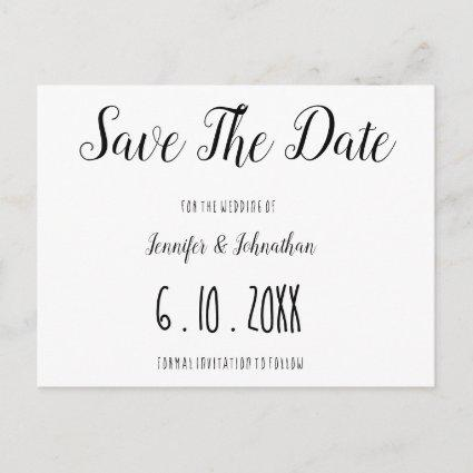 Cute simple typography wedding save the date cards