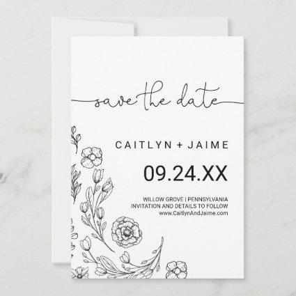 Dainty Elegance Save the Date Card