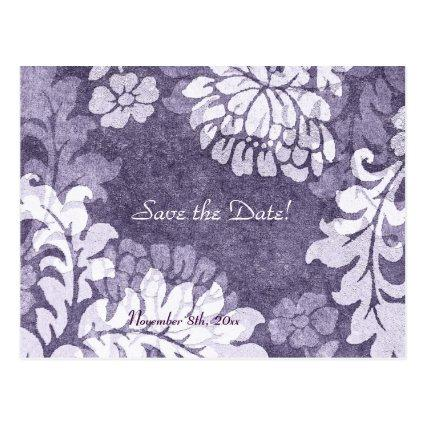 damask - lavender mist save the date Announcements Cards
