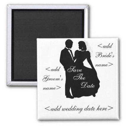 Dancing Bride and Groom Magnets
