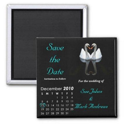 December 2010 Save the Date, Wedding Announcement Magnet
