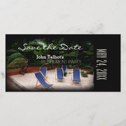 Deckchairs Personalized Retirement Save the Date