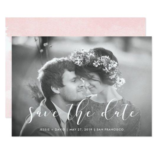 Delicate Love   Photo Save the Date Card