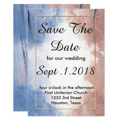 Delicate watercolors allude to waves save the date invitation
